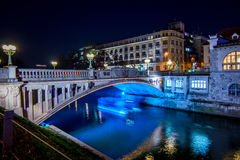 Ljubljana in christmas decoration Royalty Free Stock Image