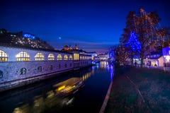 Ljubljana in christmas decoration Royalty Free Stock Images