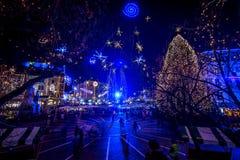 Ljubljana in christmas decoration Stock Image