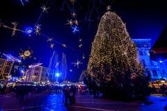 Ljubljana in christmas decoration Royalty Free Stock Photography