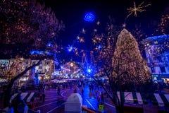Ljubljana in christmas decoration Stock Photo