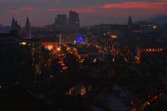 Ljubljana in christmas lights Royalty Free Stock Photography