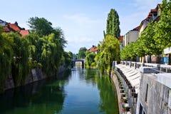 Ljubljana - city center Royalty Free Stock Photography