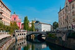 Ljubljana city center Stock Photo