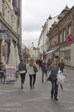 Ljubljana city street, Slovenia Royalty Free Stock Image