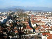 Ljubljana city view Stock Images