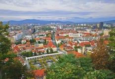 Ljubljana cityscape. From above, Slovenia Stock Photo