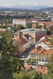 Ljubljana cityscape aerial view, Slovenia Royalty Free Stock Photography