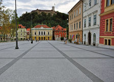 Ljubljana. Cityscape: on central square Royalty Free Stock Images