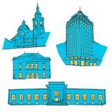 Ljubljana coloreó las señales libre illustration