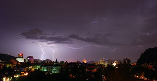 Ljubljana com tempestade Fotografia de Stock Royalty Free