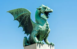 Ljubljana dragon, city symbol, Slovenia Stock Photo
