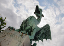 Ljubljana Dragon, Dragon Bridge, Ljubljana, Slovenia Royalty Free Stock Photography