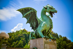 Ljubljana dragon, Slovenija Royalty Free Stock Photography