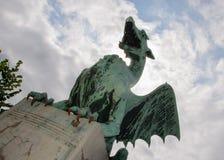 Ljubljana drake, Dragon Bridge, Ljubljana, Slovenien royaltyfri fotografi