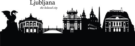 Ljubljana, Eslovenia Fotografía de archivo libre de regalías