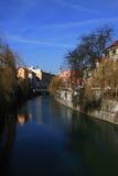 ljubljana flod Royaltyfri Bild