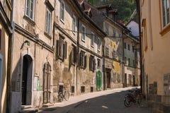 Ljubljana gammal stad Royaltyfria Foton