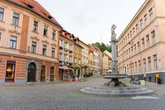 Ljubljana Hercules fountain Stock Photography