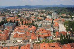 Ljubljana historic center view, Slovenia Royalty Free Stock Photo