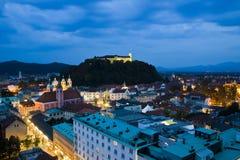 Ljubljana, hoofdstad van Slovenië Stock Fotografie