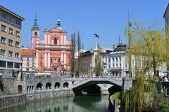 Ljubljana huvudstad av Slovenien, Europa arkivfoton