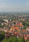 Ljubljana huvudstaden av Slovenien arkivfoto