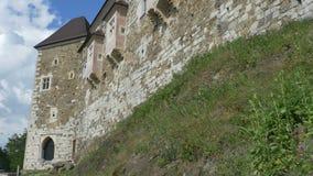 Ljubljana kasztelu ściany zbiory wideo