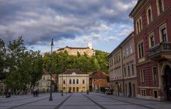 Ljubljana - Kongress-Quadrat Lizenzfreies Stockbild