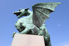 Ljubljana landmark dragon Royalty Free Stock Photography
