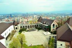 Ljubljana landscape. Beautiful view on Slovenian city,Ljubljana Stock Image