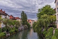 Ljubljana - Ljubljanica-Fluss Lizenzfreies Stockbild