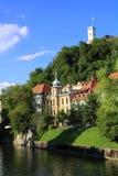 Ljubljana. A look on Ljubljana castle tower Stock Photography