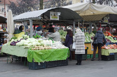 Ljubljana Market in December Royalty Free Stock Images