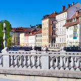 Ljubljana medieval, capital de Eslovênia, Europa Foto de Stock