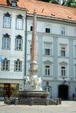 ljubljana monumentfyrkant Arkivbilder