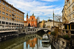Ljubljana Old Town Royalty Free Stock Photography