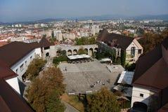 Ljubljana panorama zdjęcia stock