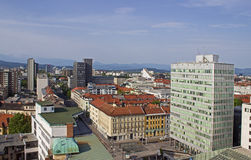 Ljubljana Panoramic View Royalty Free Stock Photos