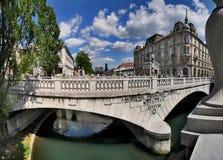 Ljubljana Presernov trg Stockfotografie