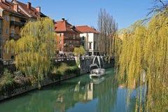 Ljubljana - río Fotos de archivo