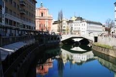 Ljubljana - río Fotos de archivo libres de regalías