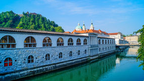Ljubljana riverside 3 Royalty Free Stock Photography