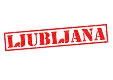 LJUBLJANA. Rubber Stamp over a white background Stock Image