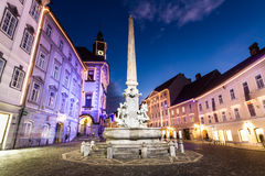 Ljubljana's city center, Slovenia, Europe. Royalty Free Stock Photography
