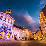 Ljubljana's city center, Slovenia, Europe. Royalty Free Stock Photo