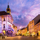 Ljubljana's city center, Slovenia, Europe. Royalty Free Stock Images
