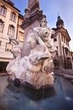Ljubljana's city hall fountain Stock Image