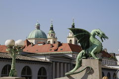 Ljubljana's dragon Royalty Free Stock Photography