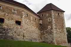 Ljubljana-Schloss, Slowenien Stockbilder